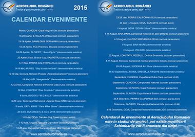 Calendar Evenimente 2015